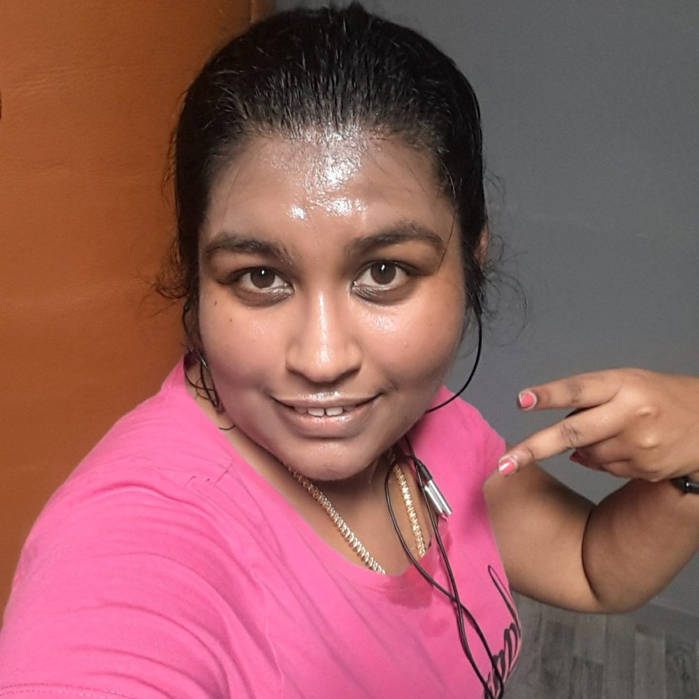 A sweaty photo of Sony after a workout at JD Gym