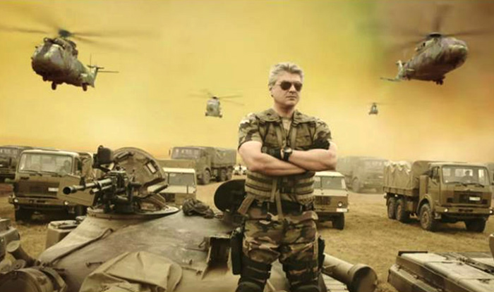 Tamil actor Ajith Kumar (Thala) in the movie Vivegam